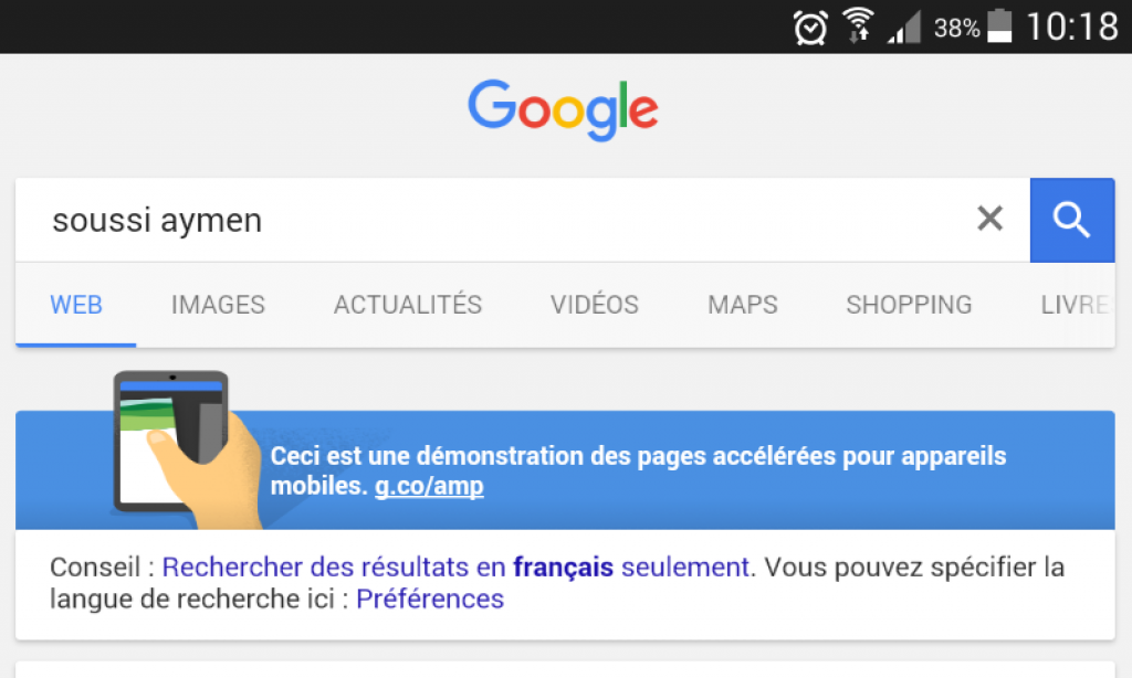 Accelerated Mobile Pages, baptisé AMP HTML